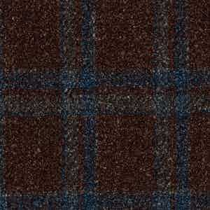 Blue and Brown Prince of Wales Batavia Wool-Polyamide-Silk-Linen Fabric