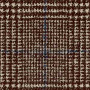 Brown Prince of Wales Check Winter Wool-Polyamide Fabric