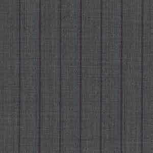 Grey and Purple Pinstriped Worsted Wool Batavia-Weave Fabric