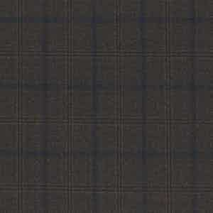 Dark Brown Overcheck Worsted Wool Batavia Fabric