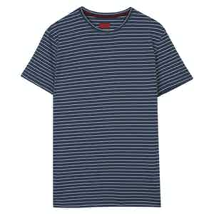 Navy and White Jersey T-Shirt