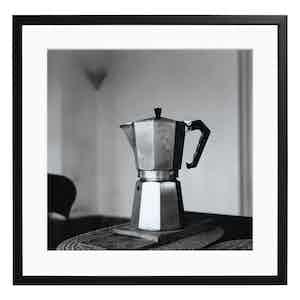 Italian Coffee Maker by Geraldo Cavaliere Black and White Print