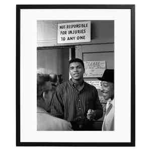 Cassius Clay Between Training Sets Black and White Print
