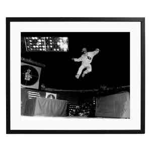 Flavor Flav at the UIC Pavilion, Chicago Black and White Print