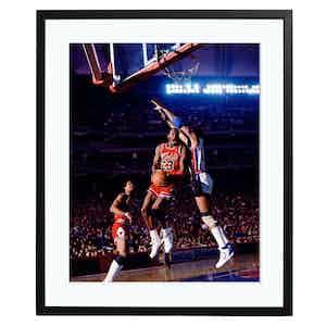 Michael Jordan Plays During the 1986-87 NBA Season Colour Print