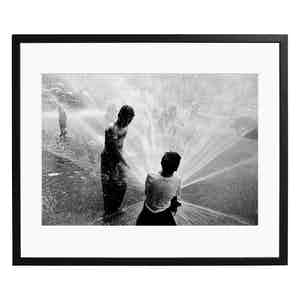 Children Escape New York Heatwave, 1953, Black and White Print