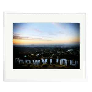 View From The Hollywood Sign Black and White Print