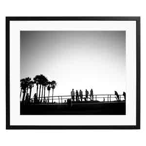 Skaters at Venice Beach, 2014 Black and White Print