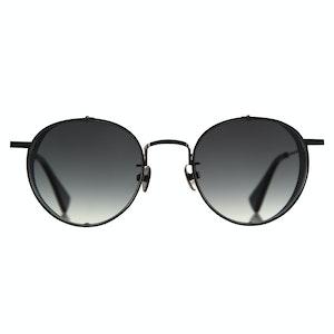 C&P x Motoluxe Gunmetal Steel Side Shield Sunglasses