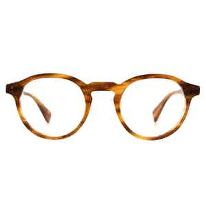 Honey Stripe Alex Natural Cellulose Optical Glasses Frames