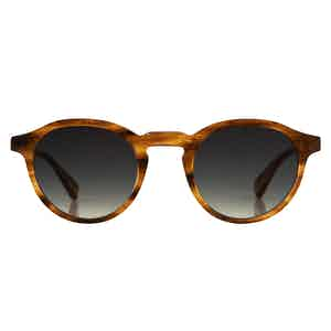 Honey Stripe Natural Cellulose Alex Sunglasses