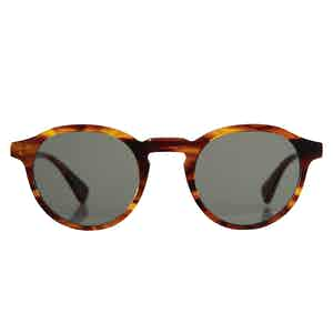 Caramel Brown Natural Cellulose Alex Sunglasses