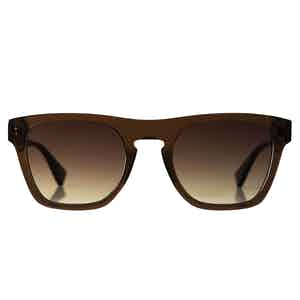Coffee Brown Natural Acetate Charlie Sunglasses