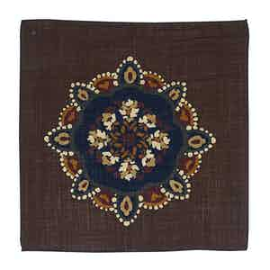 Brown Wool Kaleidoscopic Canazei Pocket Square