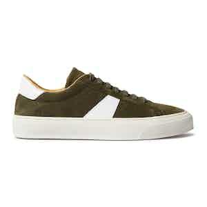 Green Suede Peter Sneakers