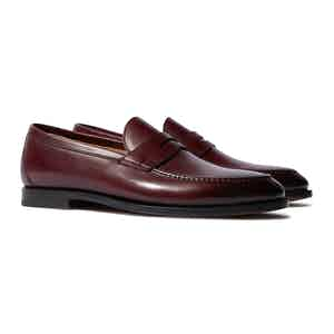 Bordeaux Calfskin Stefano Penny Loafers
