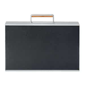 Black Aluminum and Bull Leather Mackenzie Briefcase