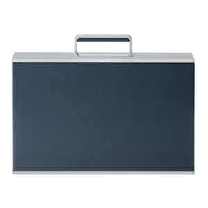 Marin Blue Aluminum and Bull Leather Mackenzie Briefcase