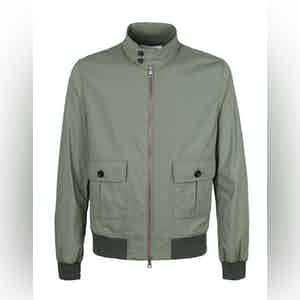Khaki Full-Zip Jacket