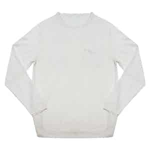Linen Sweater White with Pocket