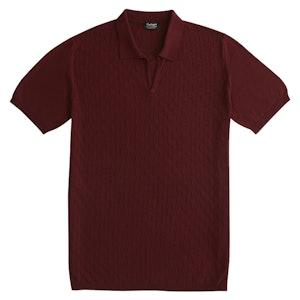 P.P.P. Burgundy Vintage Cotton Polo Shirt
