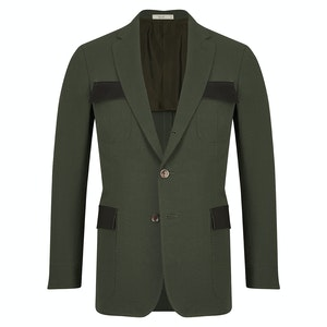 Peacock Cotton Lorenzo Jacket with Contrast Pockets