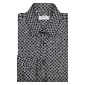 Navy Dots Bawling Long Sleeve Shirt