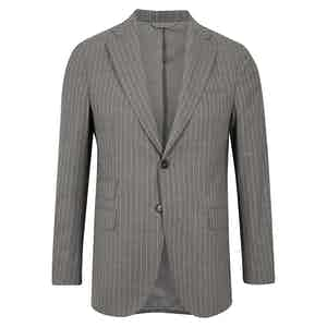 Grey Pinstripe Wool Suit
