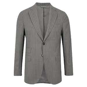 Grey Pinstripe Wool Suit