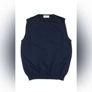 Navy Blue Cotton Pullover Waiscoat
