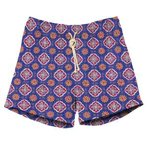 Rosso Blue Print Swimshorts