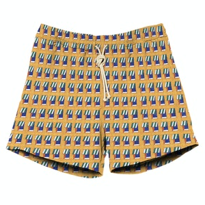 Yellow and Blue Print Swimshorts