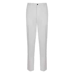 White Stretch Cotton Trousers