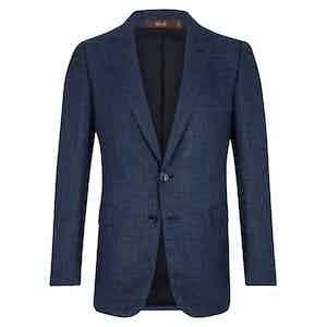 Blue Linen Marbeuf Single Breasted Jacket