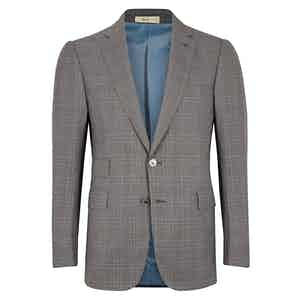 Cifonelli Grey Windowpane Wool Three-Piece Suit