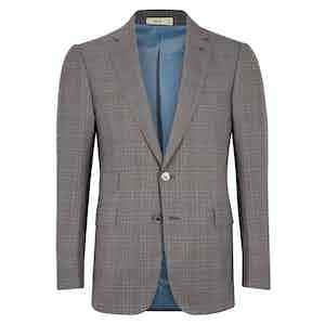 Cifonelli Grey Windowpane Wool Three-Piece Suit