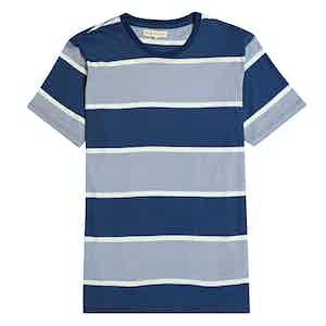 Blue Dos Stripe Cottom T-Shirt