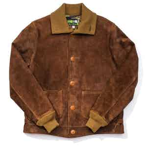 Brown Okimakan Shinki Suede Jacket