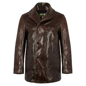 Dark Brown Leather Chinook Jacket