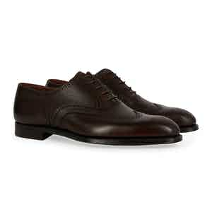 Dark Brown Grain Calf Reuben Brogue
