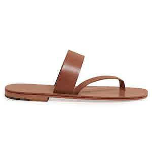 Alberto Tobacco Two Strap Calf Sandal