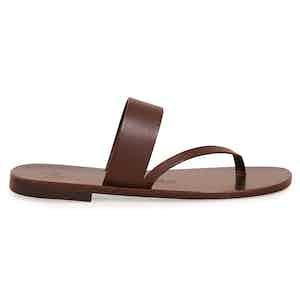 Alberto Ebony Two Strap Calf Sandal