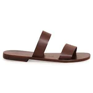Alex Ebony Two Strap Calf Sandal