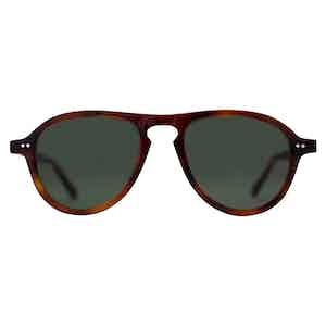 Brown Mottle Acetate Californian Sunglasses
