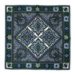 Green Tosca Silk Pocket Square