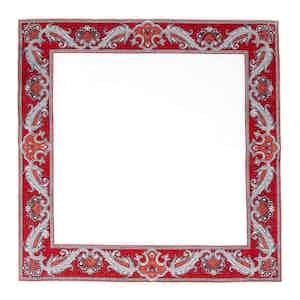 Red Waves Linen Pocket Square