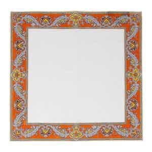 Orange Waves Linen Pocket Square