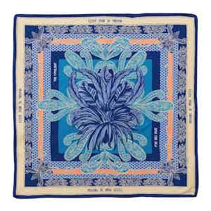 Blue Portofino Silk Pocket Square