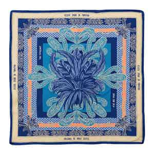 Blue Portofino Silk Pocket Square