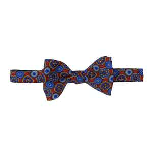 Red and Blue Medallion Silk Bow Tie